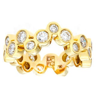 Diamonds For A Cure Handmade 18k Yellow Gold Bezel Set 1 3/4ct TDW Diamond Band (H-I, VVS1-VVS2)