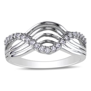 M by Miadora Sterling Silver 1/5ct TDW Diamond Ring (I-J, I2-I3)