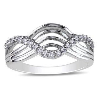 Miadora Sterling Silver 1/5ct TDW Diamond Ring (I-J, I2-I3)