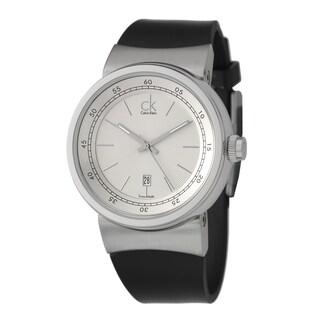 Calvin Klein Men's 'Celerity' Stainless Steel Swiss-quartz Watch with Silver Dial