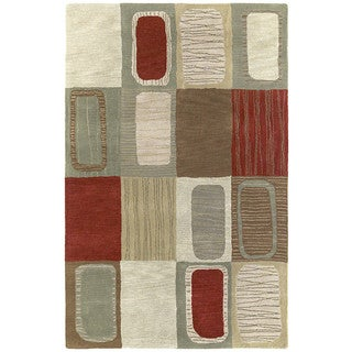 Hand-tufted Lawrence Multicolored Dimensions Wool Rug (5' x 7'9)