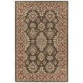 Hand-tufted Lawrence Brown Kashan Wool Rug (8' x 11')