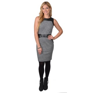 Calvin Klein Women's SleevelessTweed Sheath Dress