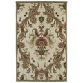 Lawrence Multicolored Damask Hand-tufted Wool Rug (2' x 3')