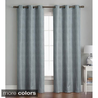 Grommet 84 inch Textured Curtain Panel Pair