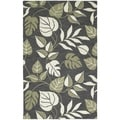 Lawrence Dark Grey Floral Hand-tufted Wool Rug (8' x 11')