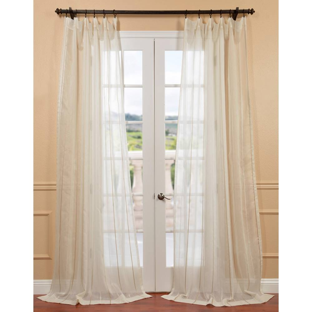 EFF Essex Natural Linen Blend Stripe Sheer Curtain Panel at Sears.com