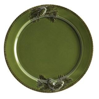 Paula Deen 'Southern Pine' Green 12-inch Round Platter