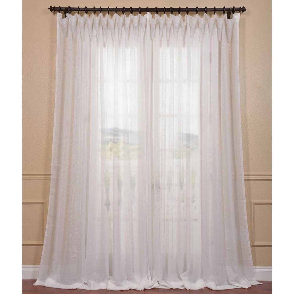 Wide sheer curtains