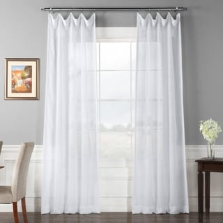 Signature White Double Layer Sheer Curtain Panel