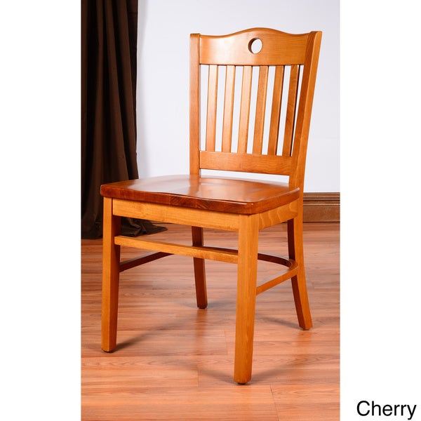 Peek A Boo Wood Side Chair Set Of 2 Overstock Shopping Great Deals On Dining Chairs