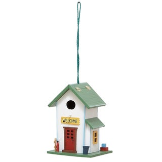 Wooden Welcome Sign Birdhouse
