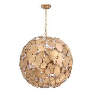 Pala 6-light Antique Gold Mini Pendant Chandelier