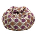 Extra Large 'Zoom' Eggplant Patterned Bean Bag