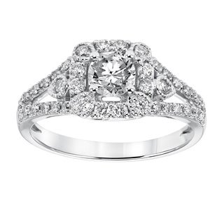 Cambridge 14k White Gold 1ct TDW Vintage Diamond Ring