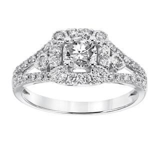 Cambridge 14k White Gold 1ct TDW Vintage Diamond Ring
