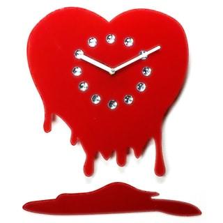 Novelty 'You Melt My Heart' Rhinestone Jewels 12-inch Clock