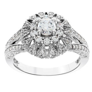 Cambridge 14k White Gold 1ct TDW Vintage Diamond Ring (I-J, I1-I2)