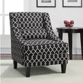 Jenny Slope Black/ Ivory Geometric Print Upholstery Arm Chair