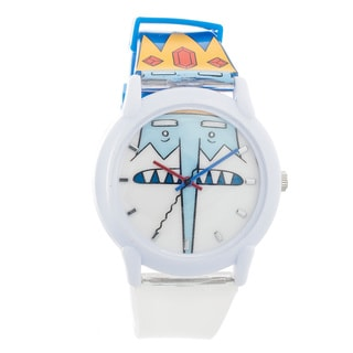 Adventure Time Kids' Silicone Blue/ White Watch