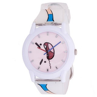 Adventure Time Kids' Silicone White Watch