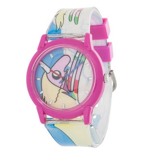 Adventure Time Girl's Silicone Pink/ White Watch