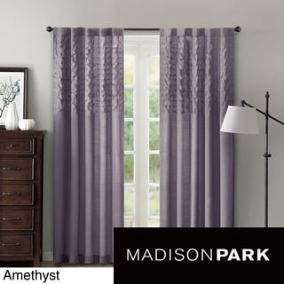 Madison Park 'Riley' 84-inch Gathered Window Panel
