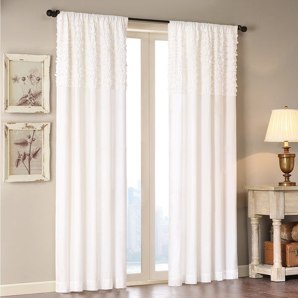 Madison Park Kylie 84-Inch Horizontal Ruffle Flippable Curtain Panel