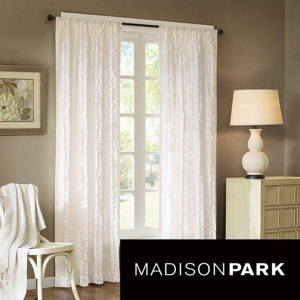 Madison Park Camila 84-Inch Vertical Ruffle Curtain Panel