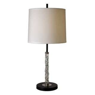 'Allegro' Clear Textured Glass Table Lamp