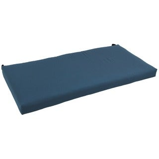 Blazing Needles Solid 42 x 19-inch Flat Twill Settee/ Bench Cushion