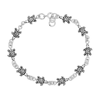 Sea Turtles Inspired Link .925 Silver Bracelet (Thailand)