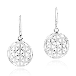 Flower of Life Water Lilies Connection .925 Silver Earrings (Thailand)