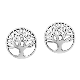 Artistic 'Tree of Life' .925 Sterling Silver Stud Earrings (Thailand)