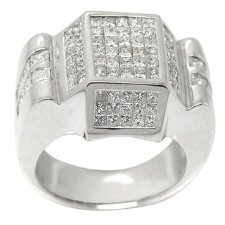 14K White Gold 2 4/5ct TDW Pave Princess-cut Diamond Ring (H-I, I1-I2)