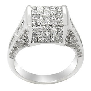 14k White Gold 2 1/2ct TDW Multi Stone Princess-cut Diamond Ring (H-I, I1-I2)