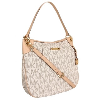 Michael Kors Large Jet Set Convertible Shoulder Bag - Vanilla