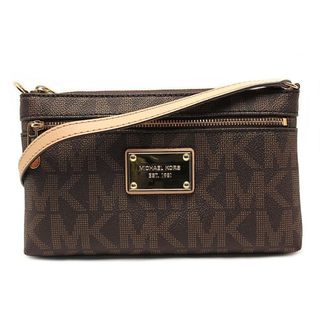 Michael Kors 'Jet Set' Large Brown Wristlet