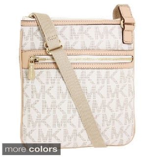 Michael Kors 'Jet Set' Large Vanilla Monogrammed Crossbody