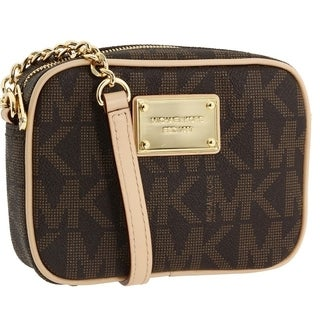 Michael Kors 'Jet Set' Small Brown Crossbody Bag