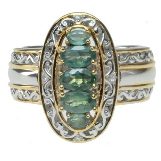 Michael Valitutti Two-tone Color-change Alexandrite and Diamond Accent Ring