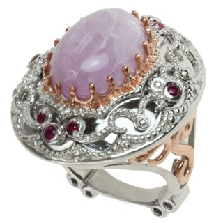 Dallas Prince Two-tone Kunzite and Pink Sapphire Ring