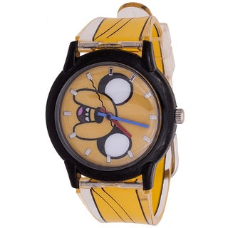 Adventure Time Kids' Silicone Jake the Dog Black/Orange Watch