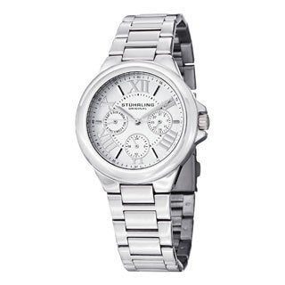 Stuhrling Original Women's Lady Pontiff Quartz Silver Stainless Steel Bracelet Watch