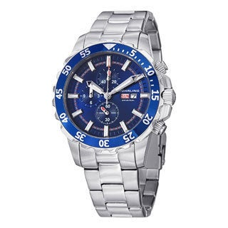 Stuhrling Original Men's Concorso Vigor Quartz Silver/Blue Stainless Steel Bracelet Watch