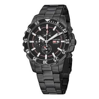 Stuhrling Original Men's Concorso Vigor Quartz Black Stainless Steel Bracelet Watch