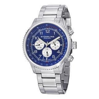 Stuhrling Original Concorso Sihouette Pro Men's Stainless Steel Blue-dial Quartz Bracelet Watch