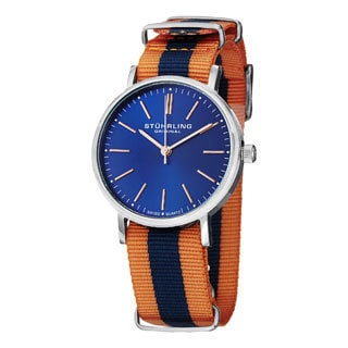 Sturhling Original Men's Aquila Quartz Canvas Strap Watch