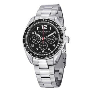Stuhrling Original Men's Concorso Dragster Swiss Quartz Stainless Steel Bracelet Watch