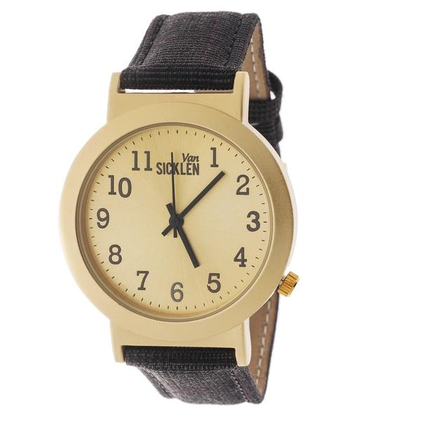 Van Sicklen Men's Glen Plaid Black Multi Watch